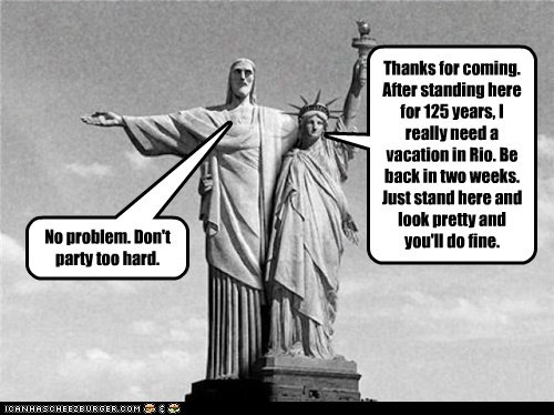 brazil christ the redeemer political pictures Statue of Liberty - 5562149120