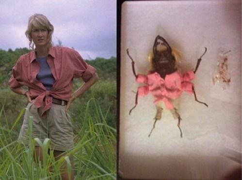 Beetles,bugs,creepy,dr-ellie-sattler,dr-ian-malcolm,Fan Art,john hammond,jurassic park,movies,robert muldoon,wtf