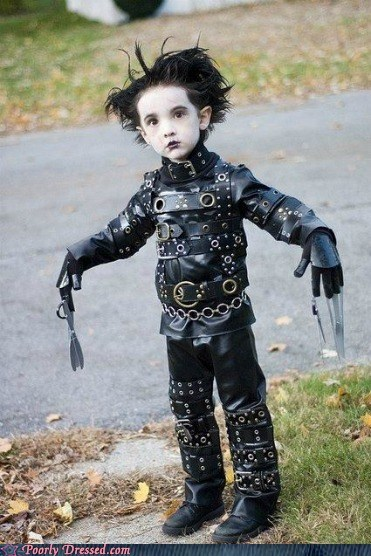childhood dressed to win Edward Scissorhands Hall of Fame the early years