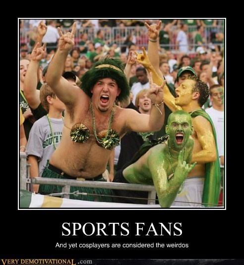 cosplay hilarious sports fans weirdo - 5562663936