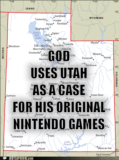GOD USES UTAH AS A CASE FOR HIS ORIGINAL NINTENDO GAMES