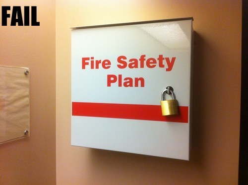 fire safety irony Professional At Work signs - 5563064320