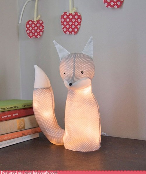best of the week electrical fabric fox lamp light - 5563297280