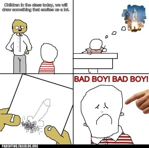 accidental sexy drawing education Parenting Fail rage comic rocket school - 5563365376