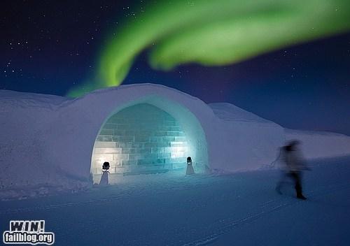 aurora borealis design ice igloo mother nature ftw snow winter - 5563366656