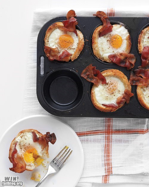 bacon breakfast cupcakes food g rated Hall of Fame noms team breakfast win