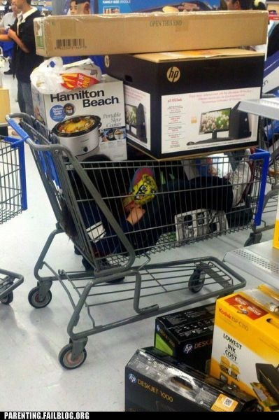 accident crushed fort Parenting Fail shopping shopping cart