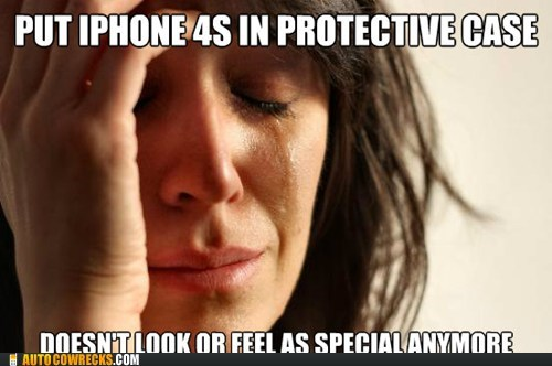 case cover First World Problems gallery iphone case meme