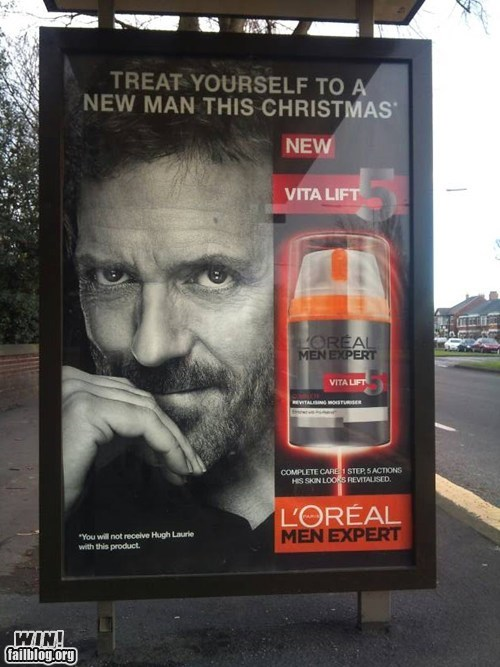 advertisement celeb free stuff hugh laurie shaving - 5563487488