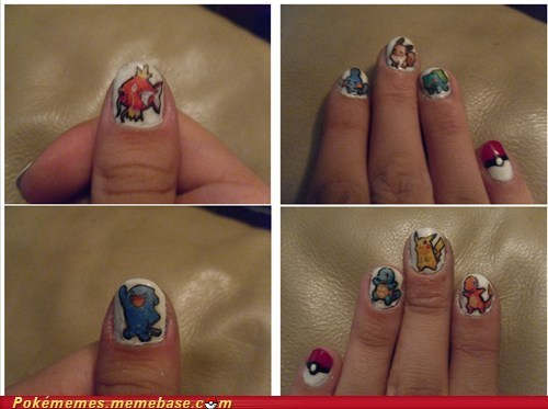 best of week charmander Fan Art nail art pikachu Pokémon squirtle - 5563601664