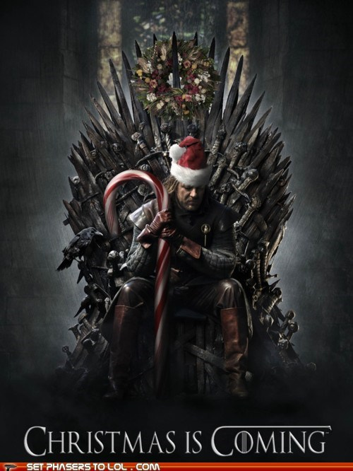 best of the week christmas Eddard Stark Game of Thrones iron throne sean bean throne Winter Is Coming - 5563836160