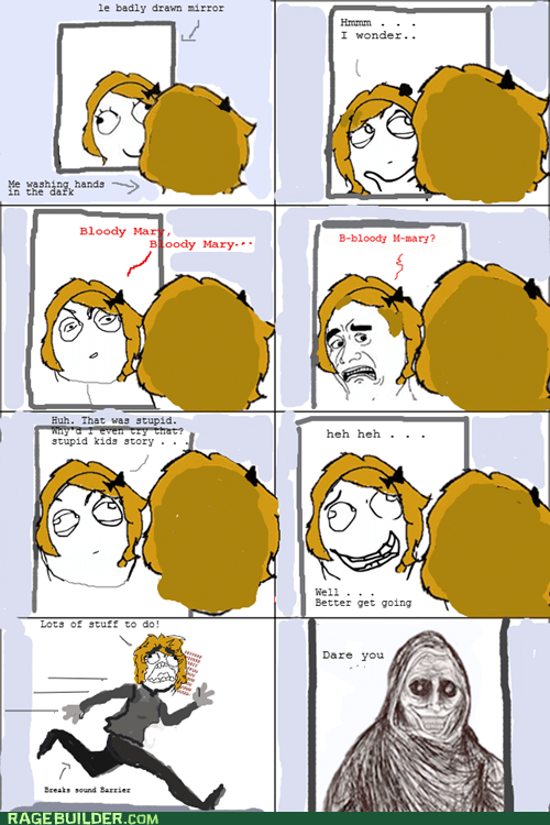 bloody mary mirror Rage Comics shadow lurker - 5563857152