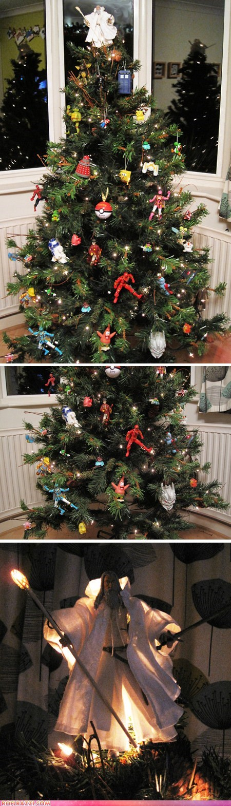 Lord Of The Rings Christmas Ornaments.Pop Culture Christmas Tree Pop Culture Funny Celebrity