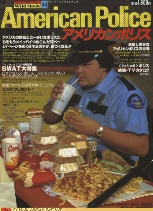 cover japanese joke magazine McDonald's police