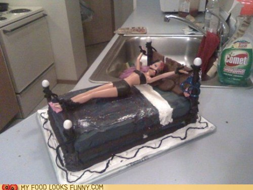 Barbie,bed,bondage,cake,gagged,kinky