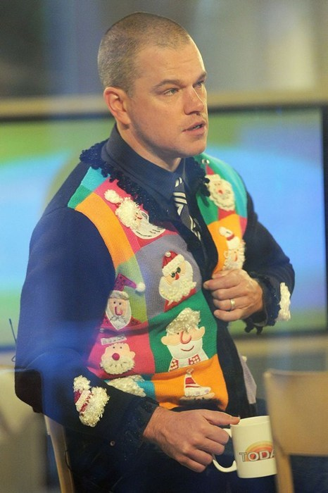 christmas,matt damon,today show
