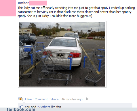 parking revenge shopping carts Walmart
