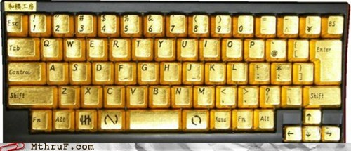 gold plated,goldfinger,keyboard