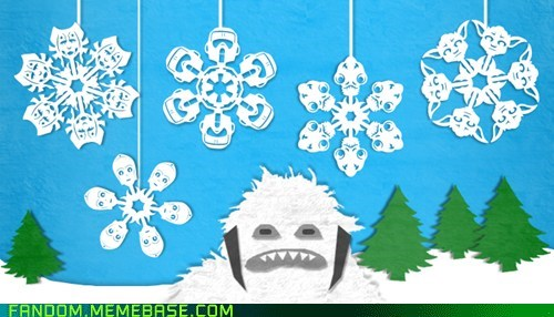 best of week DIY Fan Art snow snowflakes star wars winter - 5564272896