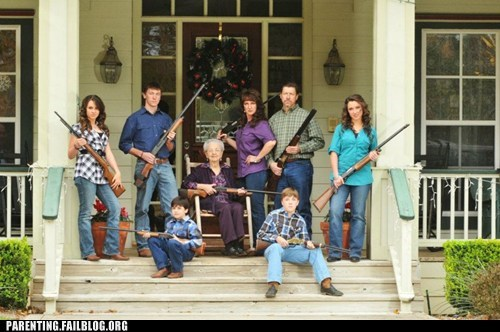family family photo family portrait gun safety guns hunting Parenting Fail rifle