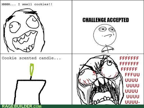 candles Challenge Accepted cookies Rage Comics scented - 5564434944