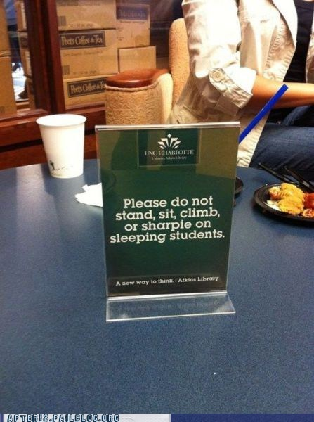 be nice college hung over passed out sharpie sleeping students - 5564448256