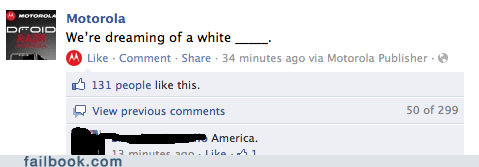 corporate page fill in the blank racist witty reply - 5564503808