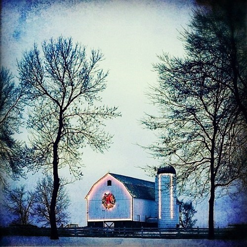 barn christmas getaways Hall of Fame holiday instagram muted colors unknown location white