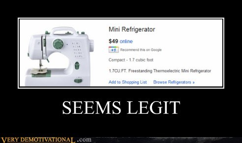 hilarious,refridgerator,seems legit,sewing machine,wtf