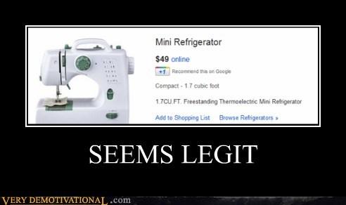 hilarious refridgerator seems legit sewing machine wtf - 5564900352