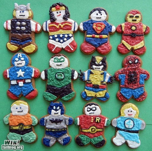batman cookies dessert food noms super heroes - 5564980736