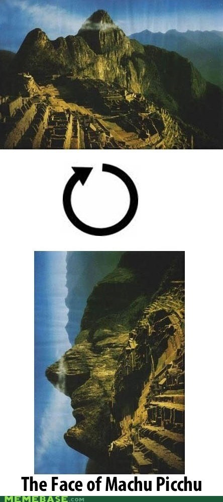aztec cannot unsee face incan machu picchu mayan mountains - 5565049856