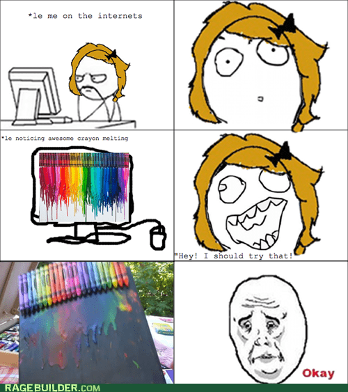 crayons melty Rage Comics the internet lies - 5565151232