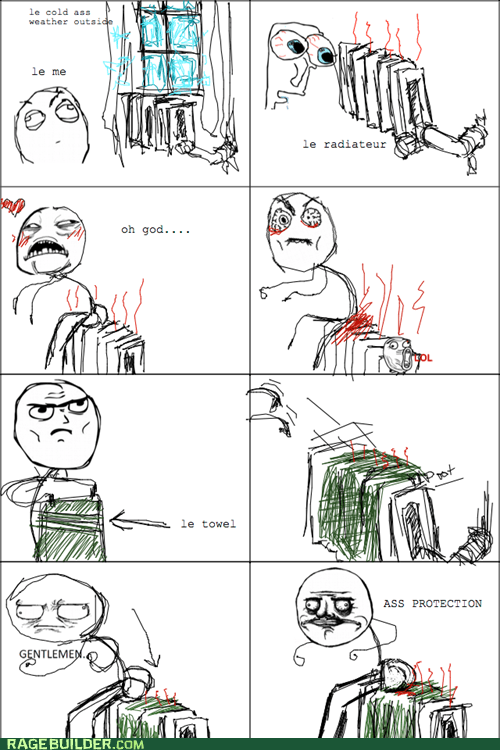 cold heater radiator Rage Comics