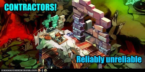 bastion building contractors unreliable video games