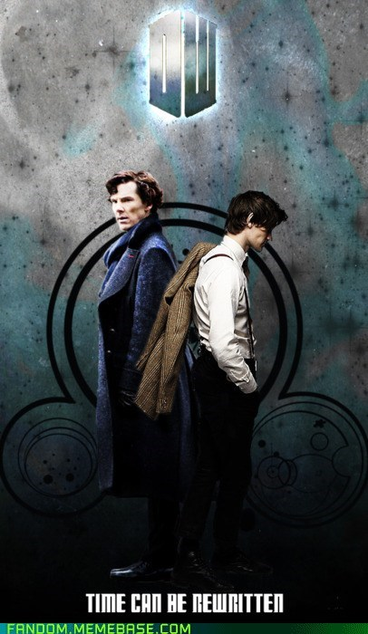 best of week crossover doctor who It Came From the Interwebz poster sherlock holmes - 5565506304