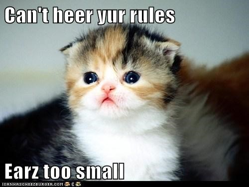 Can't heer yur rules
