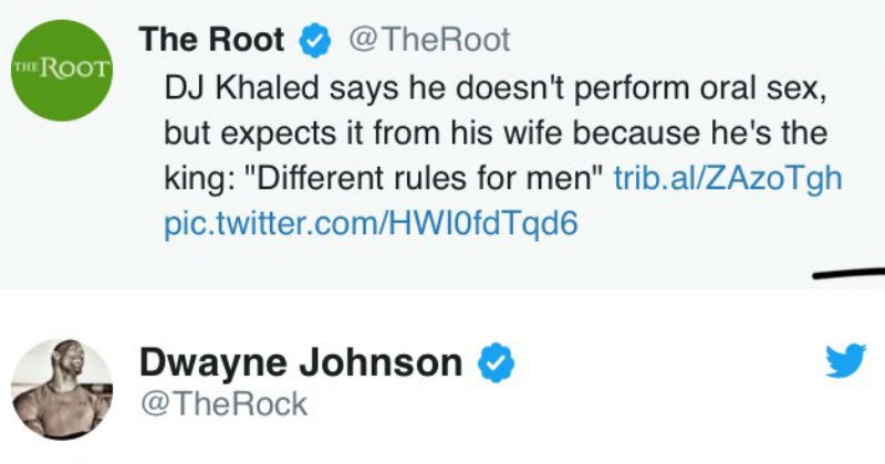 sex twitter Dwayne Johnson the rock dj khaled win sexist - 5566213
