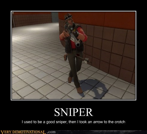 arrow crotch hilarious knee sniper TF2 - 5566333952