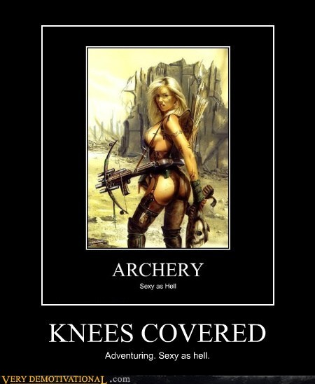 archery hilarious knees sexy times wtf - 5566584832
