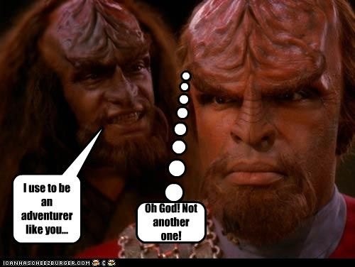 arrow to the knee joke klingons Michael Dorn old Star Trek Worf - 5566731520