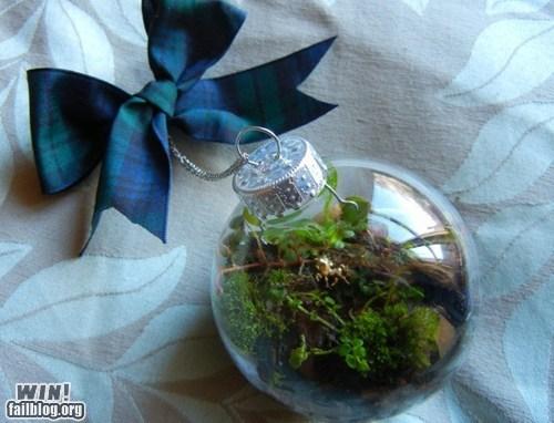 christmas green nature ornament terrarium - 5566818560