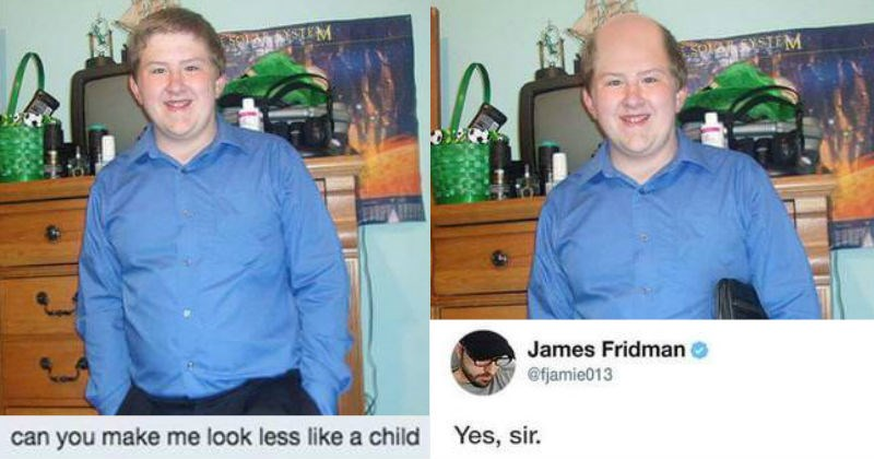 funny photoshop troll James Fridman