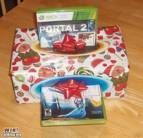 christmas present clever g rated Portal portal 2 video games win