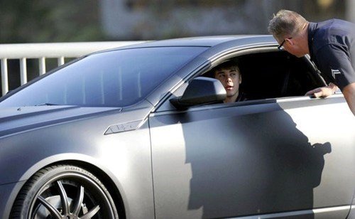 batmobile justin bieber lapd TMZ traffic violation - 5567638528