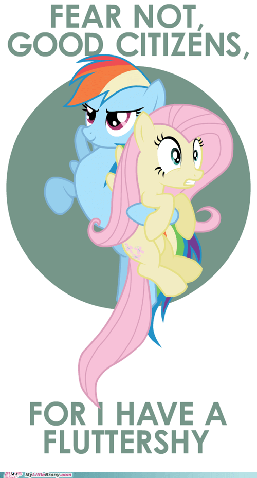 fear not fluttershy ponies rainbow dash we are saved - 5567743232