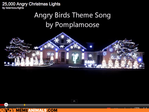 angry birds around the interwebs christmas christmas lights the fw theme songs video games