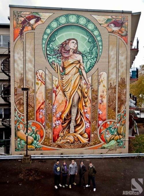 art nouveau,ashop,Street Art