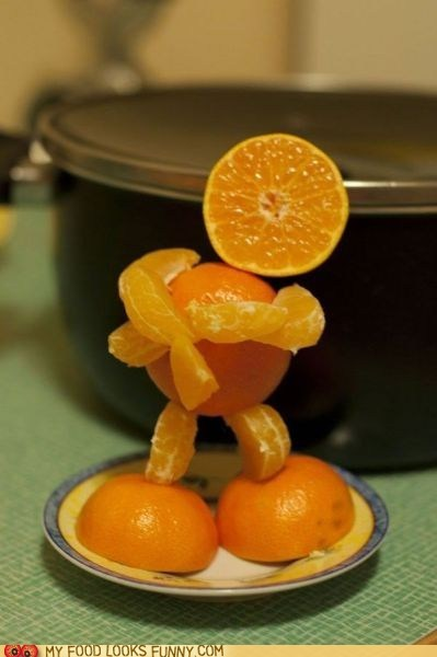 attitude man orange sculpture - 5568191744
