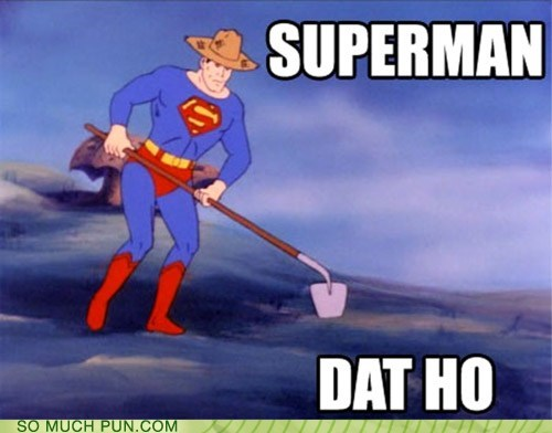 comic double meaning Hall of Fame hoe literalism lyric song superman - 5568461312